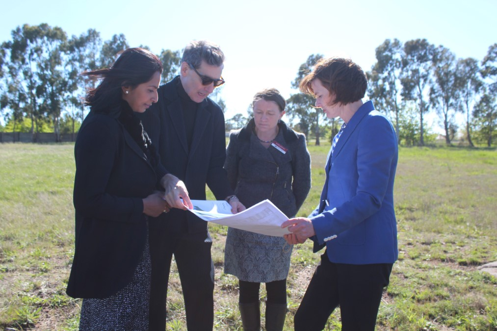 Rationale founder Richard Parker, Rationale CEO Shamini Rajarethnam, Macedon Ranges Mayor Jennifer Anderson and Member for Macedon Mary-Anne Thomas discussed plans for the new site.
