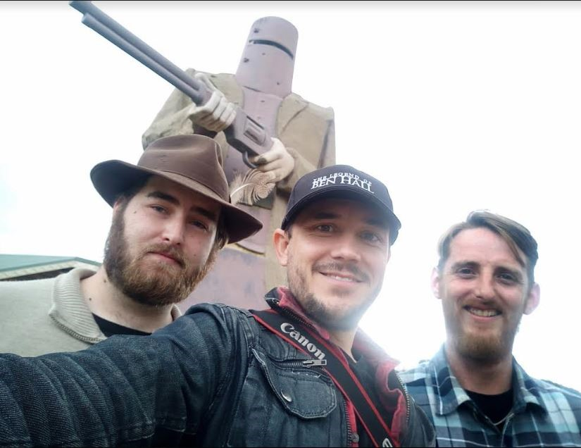The creative team behind 'Glenrowan' - (from left to right) co-writer Aidan Phelan, co-writer and director Matthew Holmes and historical consultant Steve Jager.