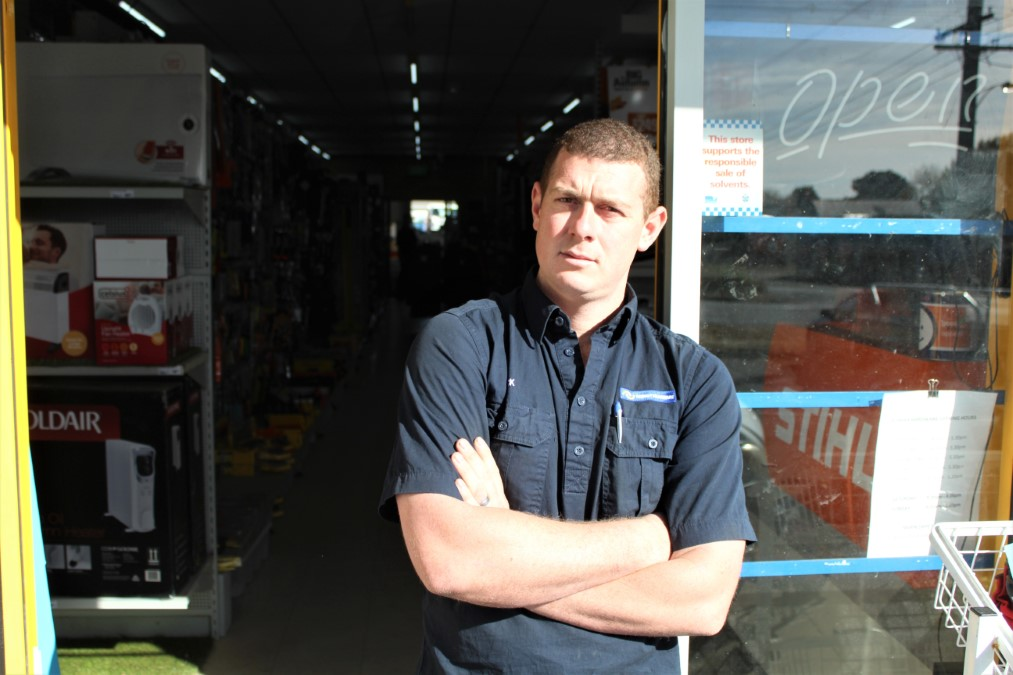 Romsey's Thrifty-Link Hardware has had five break-ins in eight months and owner Nick Waldhauser has reached breaking point