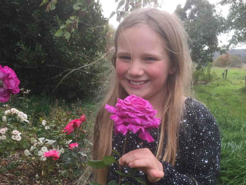 Bethany Thompson's dedication to gardening has paid off in this year's Mount Macedon Autumn Flower Show.